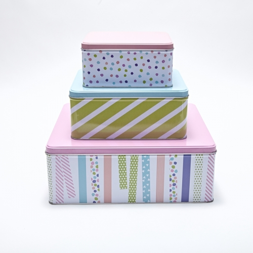 Nested Gift Tin Box Set