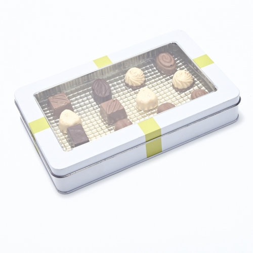Cookie Tin Box with Window