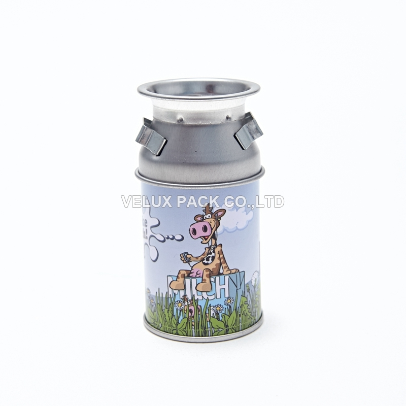 Cute Milk Tin Box For Children Pencil Sharpener With Tin Plate Box