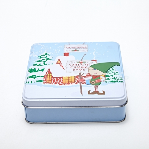 Christmas Cookie Tin Box
